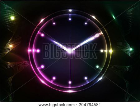 abstract clock background - conceptual vector.illustration watch.