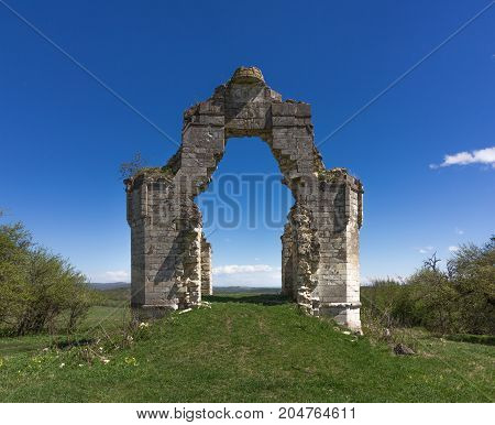 the ruins of an ancient Orthodox chapel
