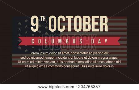Background for Columbus Day vector art illustration
