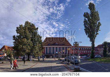 Gliwice, Poland - September 14, 2017: Railway Station On 14 Sept