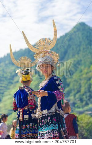 Miao Ethnic Minority Traditional Festival Mountain