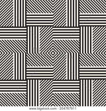Abstract geometric pattern with stripes, lines. Seamless vector stylish ackground. Black and white lattice texture.