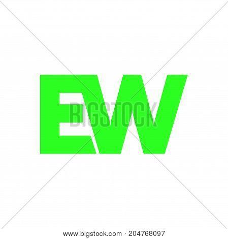 ew letter initial logo design, letter logo design
