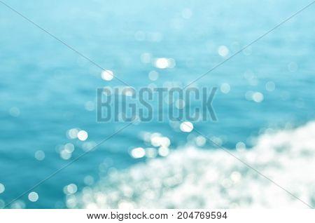 Blurred water background. Mediterranean sea. Summer time