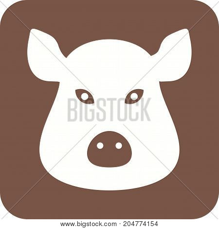 Pig, face, animal icon vector image. Can also be used for Animals Faces. Suitable for mobile apps, web apps and print media.
