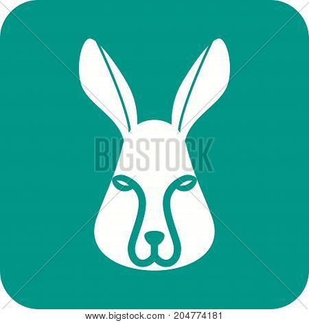 Rabbit, white, grass icon vector image. Can also be used for Animals Faces. Suitable for mobile apps, web apps and print media.