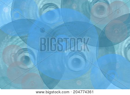 On a blue background circles of the different sizes of gentle blue shades rotate