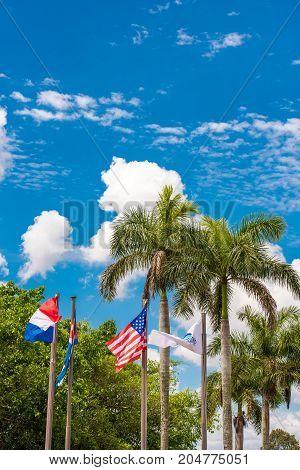 View Of The Flags, Vinales, Pinar Del Rio, Cuba. Vertical.