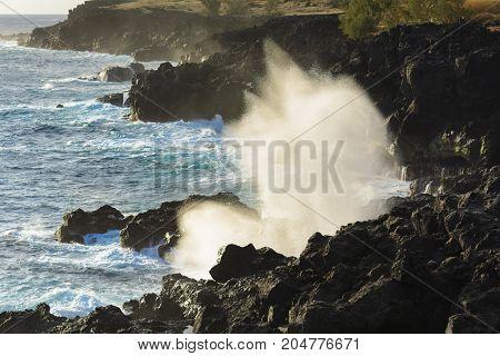 Le Souffleur Or A Natural Geyser At Reunion Island