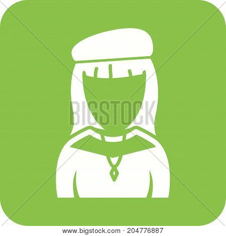 Painting, girl, artist icon vector image. Can also be used for Avatars. Suitable for use on web apps, mobile apps and print media.