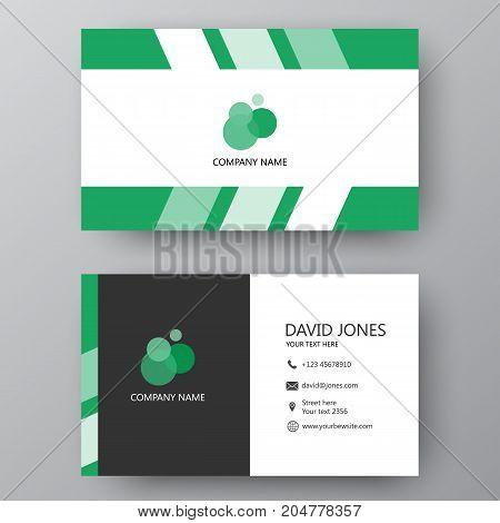 Visiting Card. Vector Illustration Business Card. Visiting Card With Company Logo. Vector Illustrati