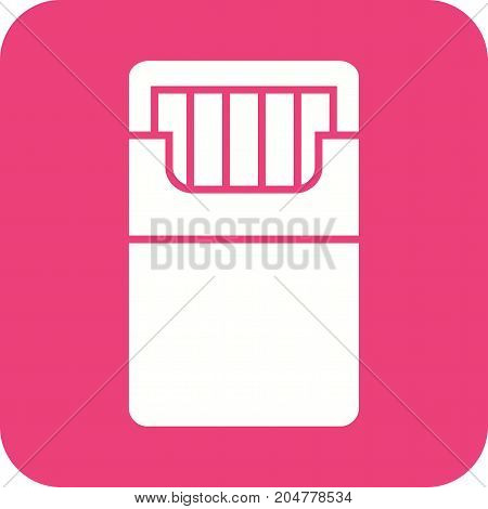 Smoking, cigarettes, tobacco icon vector image. Can also be used for Cafe and Bar. Suitable for web apps, mobile apps and print media.