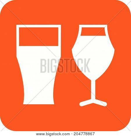 Beer, glass, wine icon vector image. Can also be used for Cafe and Bar. Suitable for use on web apps, mobile apps and print media.