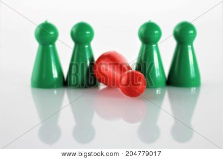 An concept image of a game Parcheesi, Aggravation, and Trouble - Ludo
