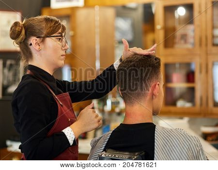 Young Man Getting A Haircut