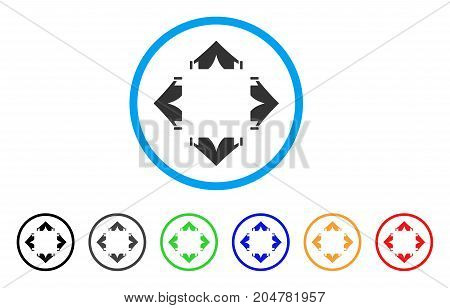 Tent Camp rounded icon. Style is a flat tent camp gray symbol inside light blue circle with black, gray, green, blue, red, orange color versions. Vector designed for web and software interfaces.