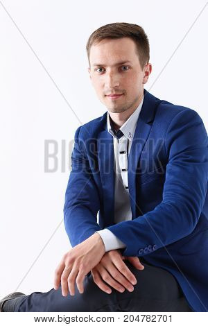 Handsome Smiling Man In Looking In Camera