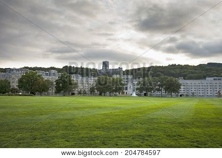 NEW YORK USA - Sep 18 2017: United States Military Academy (USMA) also known as West Point Army The Academy is a four-year coeducational federal service academy located in West Point New York