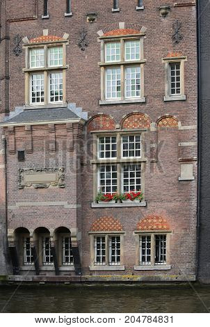 Old Amsterdam House In Holland In Northern Europe