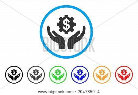 Maintenance Price rounded icon. Style is a flat maintenance price gray symbol inside light blue circle with black, gray, green, blue, red, orange versions.