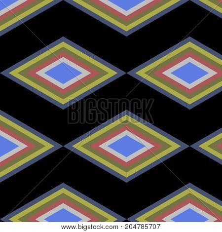 abstract vector black geometric colorful patter background