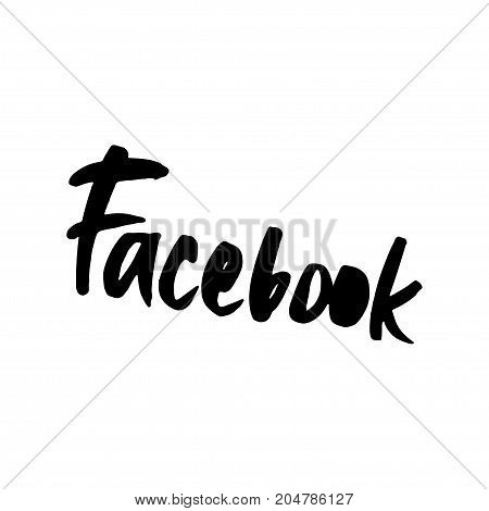 Hand drawn word - Facebook . Lettering design for posters, t-shirts, cards, invitations, stickers, banners advertisement