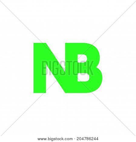 nb initial logo design, letter initial logo design