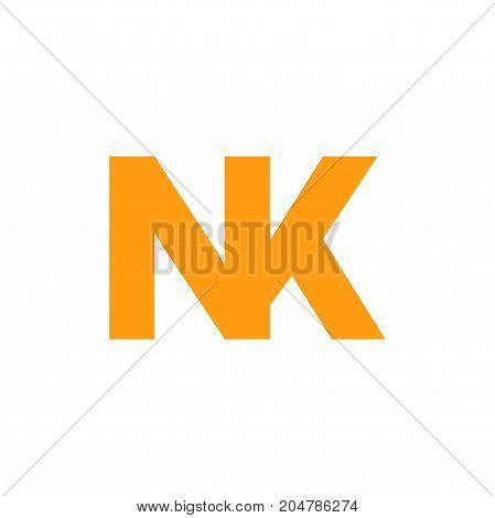 nk initial logo design, letter initial logo design