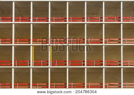 geometric background of building. abstact facade pattern