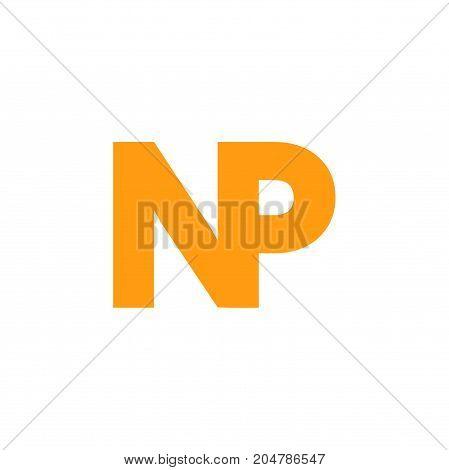 np initial logo design, letter initial logo design