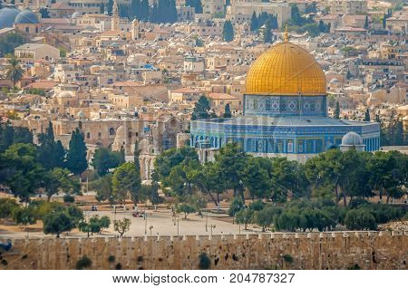 JERUSALEM, ISRAEL. September 15, 2017. Dome of the Rock (