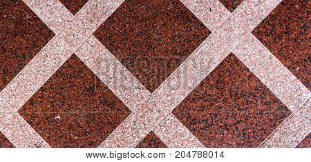 Marble or granite floor slabs for outside pavement flooring. Natural gray pavement stone texture for floor wall or path. Traditional fence court backyard or road paving. poster