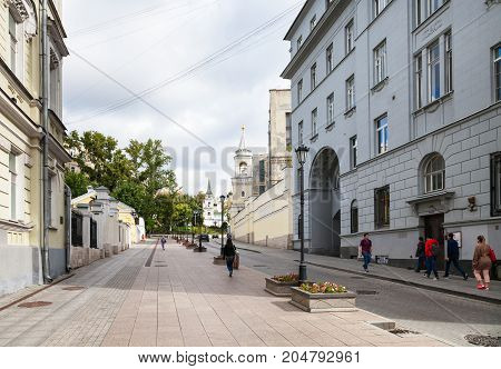 People On Zabelina Street In Moscow City