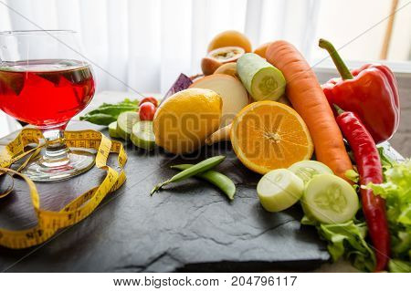 Healthy food eating for diet fresh organic vegetables nutrition for vegan.