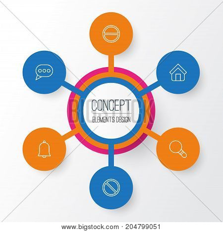 Network Icons Set. Collection Of Message Bubble, Estate, Research And Other Elements