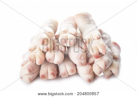 Raw Crubeens Or Pig Trotters