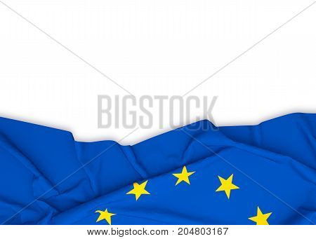 EU flag on white background with clipping path. 3D illustration