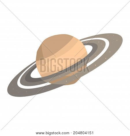 Saturn planet cartoon vector Illustration on a white background