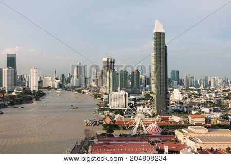 Chao Phraya River in Bangkok City Thailand