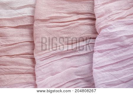 Pink Color Drapery Cloth Textile Texture Background