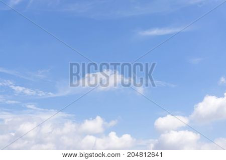 Blue sky with clouds background blue sky background with tiny clouds Natural sky composition. Element of design.