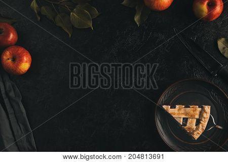 Piece Of Apple Pie On Cake Server