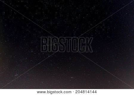 Dark night sky with stars. Astronomical background