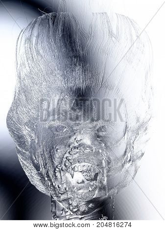 Digital 3D Illustration Of A Female Vampire Relief