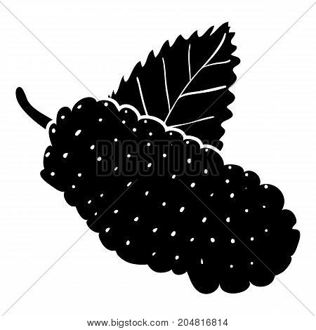 Mulberry icon. Simple illustration of mulberry vector icon for web design isolated on white background