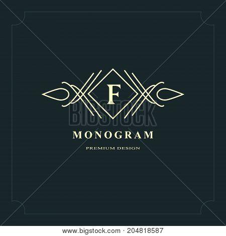 Line graphics monogram. Elegant art logo design. Letter K. Graceful template. Business sign identity for Restaurant Royalty Boutique Cafe Hotel Heraldic Jewelry Fashion. Vector elements