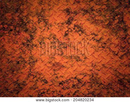 Rust metal floor plate texture and background.