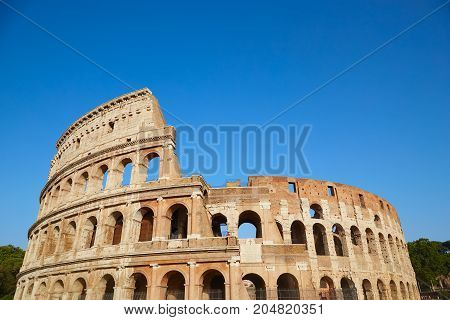 Colosseum In Summer Day