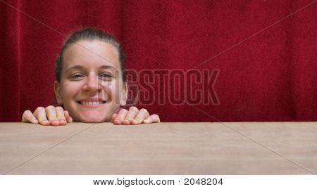 Funny Smiling Woman Face