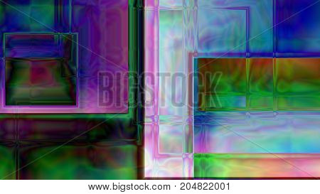 Colorful abstract prism background based on cubes in 4K resolution.